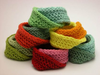 Double mobius cotton bracelet collection Spring Summer by Kate Wilcox-Leigh