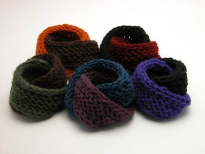 Double mobius cotton bracelet collection Fall Winter by Kate Wilcox-Leigh